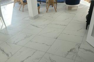 Pose de carrelage effet marbre - Miani Carrelages